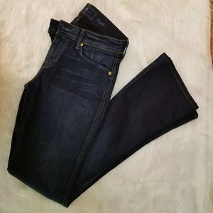 7 FOR ALL MAN KIND JEANS size 26 drk wash flare